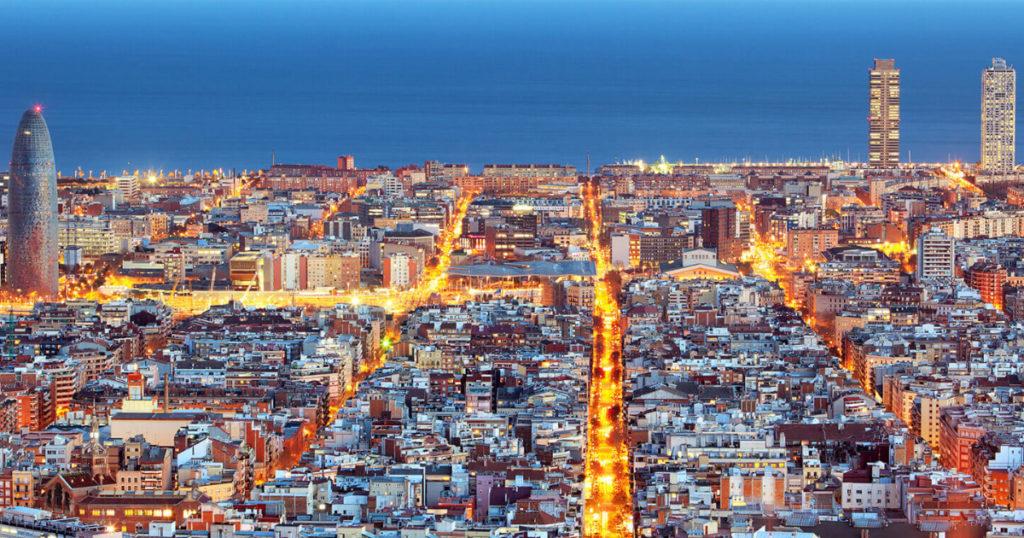 Barcelone le soir